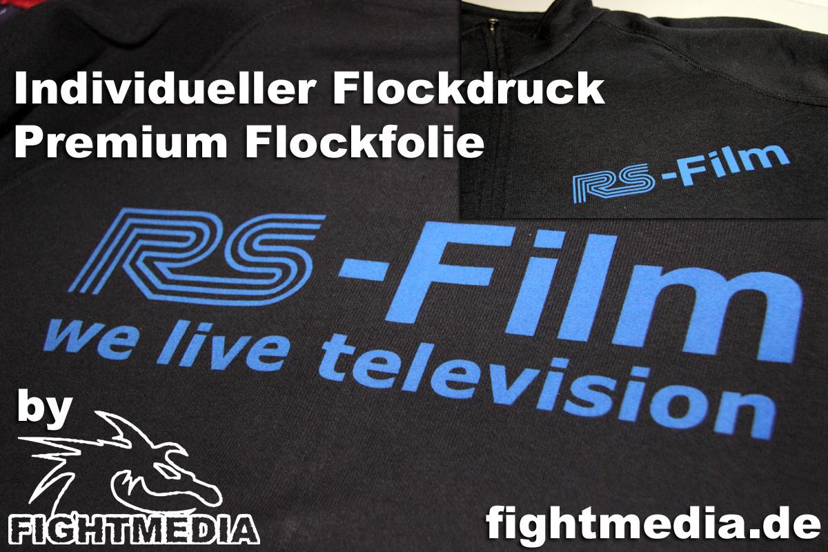 Flock Druck Individualisierte Textilien by Fightmedia
